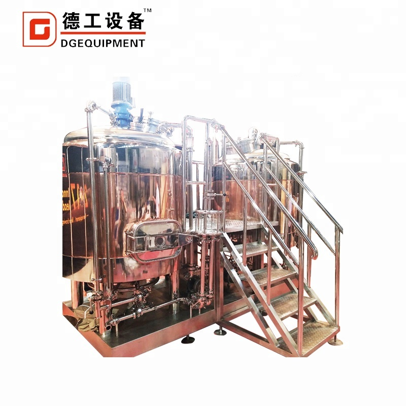 1000L 1500L Micro Beer Brewing Brewery Equipment / Beer Making Machine