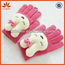phone accessory cute cartoon touch screen glove for mobile phones
