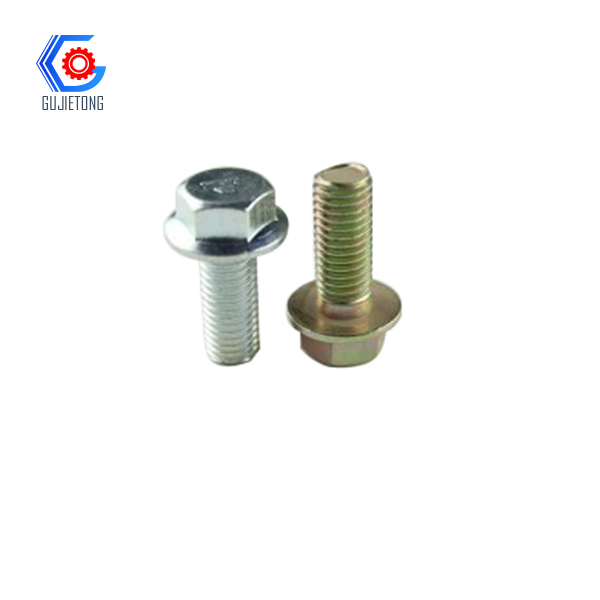 half thread hex flange bolt