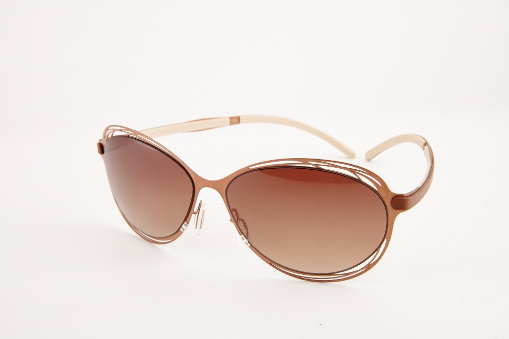 """ Elixir "" Taiwan Best Top quality Steel sunglasses ,meticulous design ,Rose Gold"