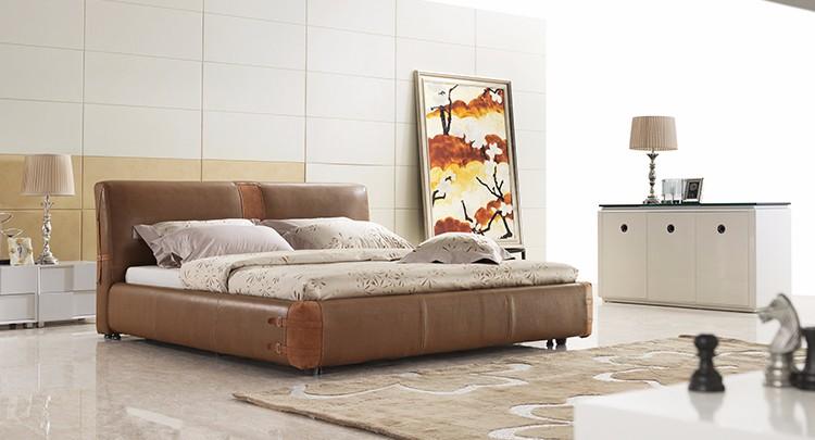 Moderne slaapkamer sets full size lederen gestoffeerde bed buy