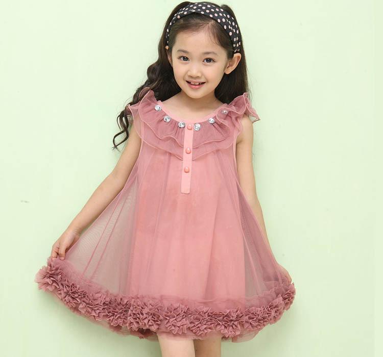 b39a1a91006 Get Quotations · 2015 summer new Korean children s clothing girls vest  dress chiffon lace dress factory direct generation of
