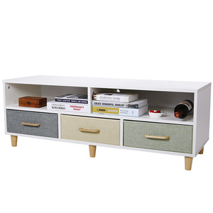 Chinese Supplier Wholesale Modern Design White Tv Stand Cabinet Wooden with Showroom