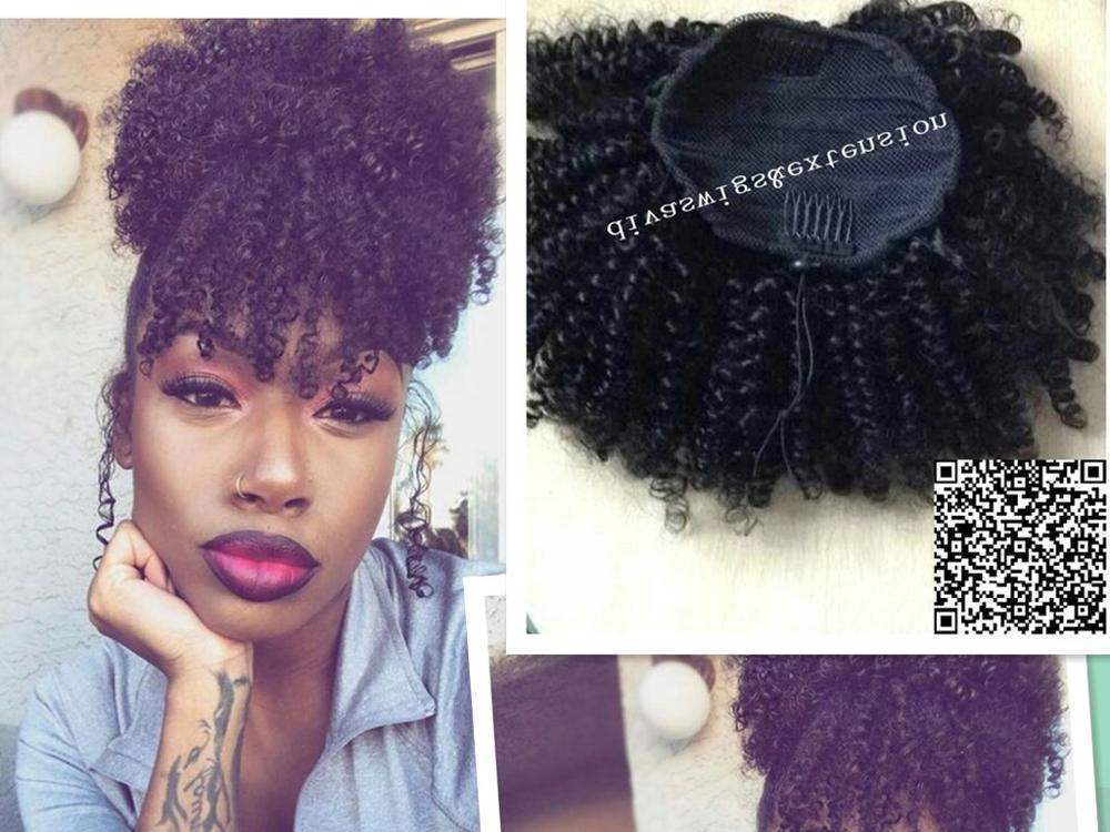 Women Hair Extensions Afro Kinky Curly Hair Ponytail
