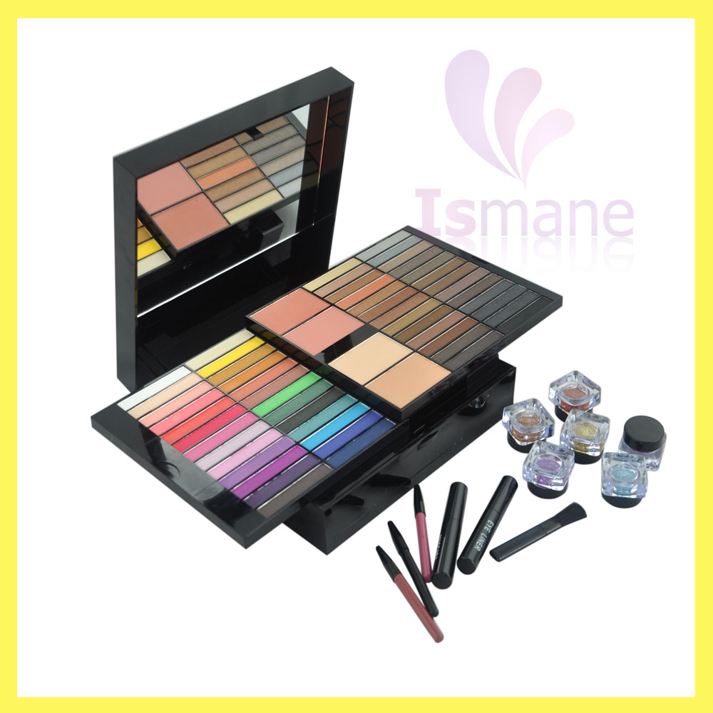 Super Advanced 85 Pieces Lady Makeup Combination ,Kiss Beauty Blusher Shimmer &Matte Eyeshadow Palette