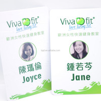 Free sample cheap OEM custom VOGRACR logo printing plastic VIP ID card wholesale PVC school name card with lanyard for sale