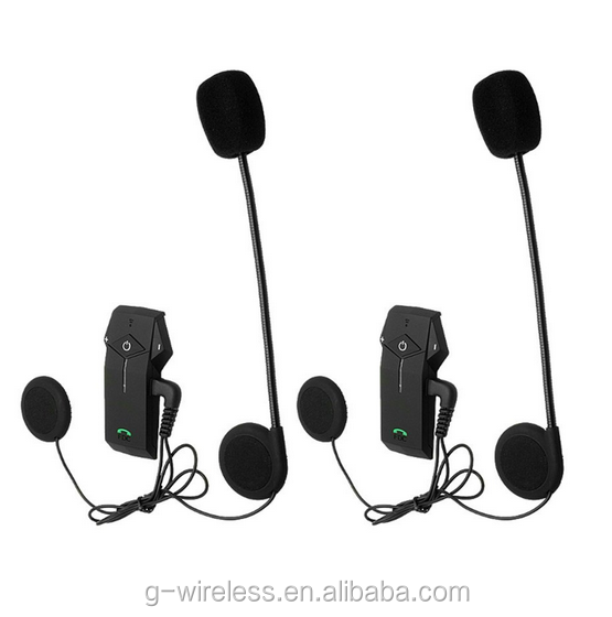 Microphone referee communicate bluetooth walkie talkie headset wireless intercom system for kick scooter bike helmet fm intercom