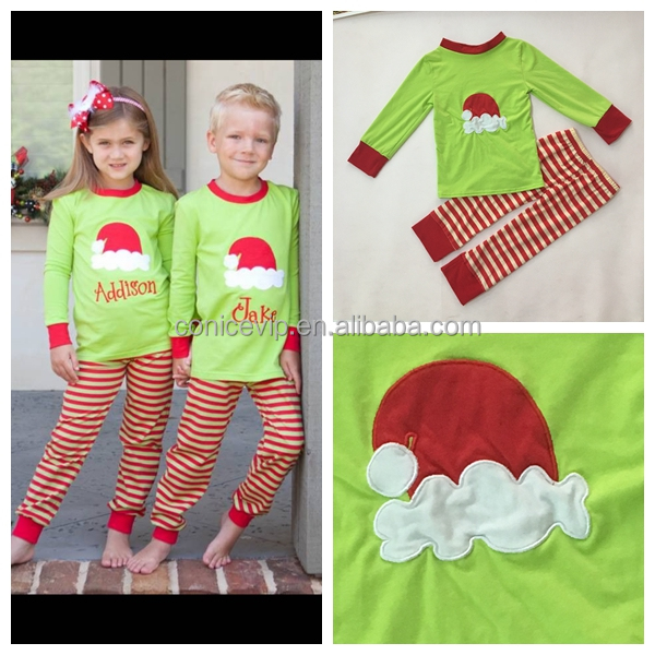 11866ef31a90 Wholesale Cute Baby Girls Christmas Clothes Set Children home pajamas