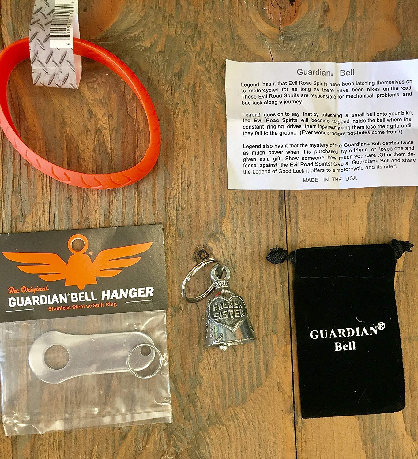 Guardian® Bell FALLEN SISTER COMPLETE MOTORCYCLE KIT W/HANGER & WRISTBAND