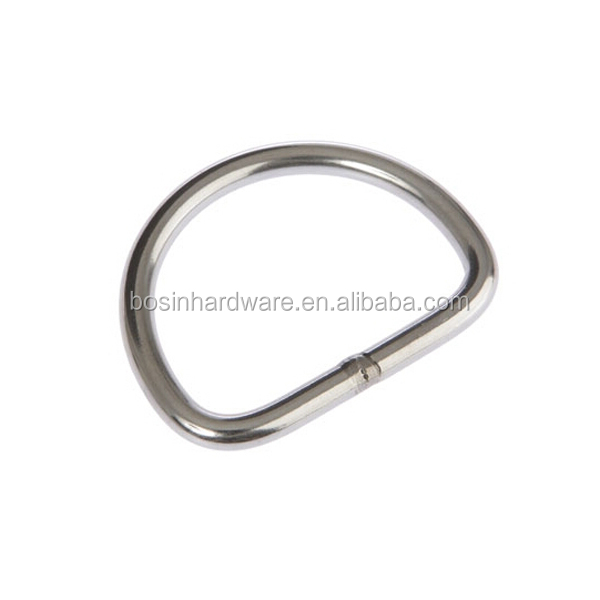 Fashion High Quality Metal Hardware Welded Stainless Steel D Ring