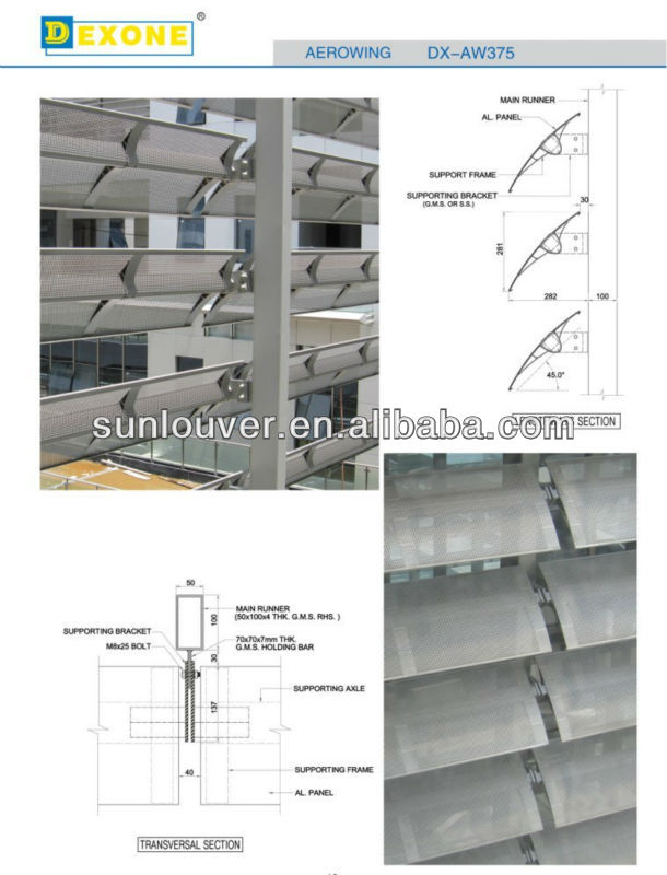 Aerowing Aluminio Perforado Ac 250 Stico Ventana Persiana