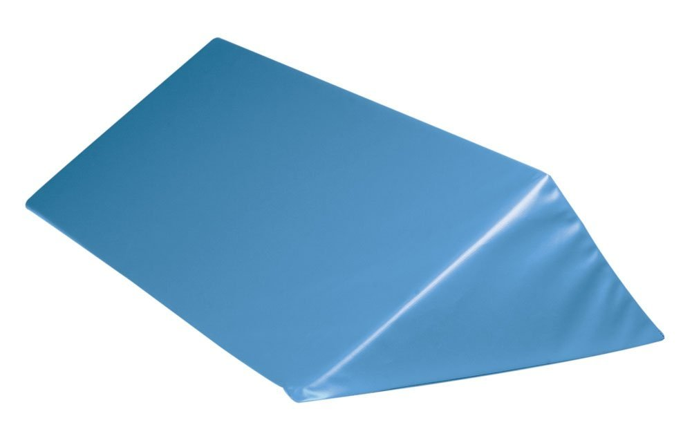 Double Angle Wedge Positioner, High Density, Blue, 24x6-3/4x9-3/4 inch