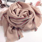 Accessories Jewelry 100% Acrylic Travel Printed Shawl Tassel Scarf Knitting Machine