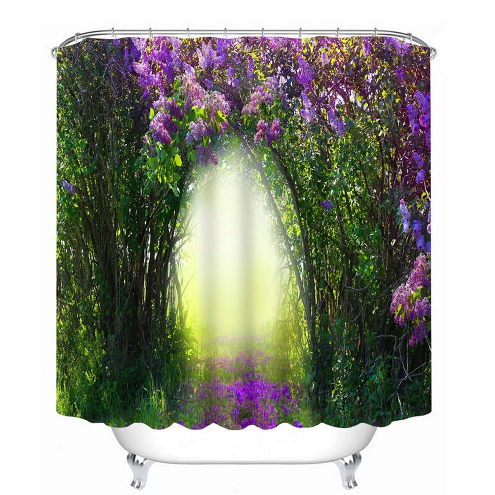Image of: Purple And Green Shower Curtains Intended Get Quotations Jibin Bong 72 78 Inch Farmhouse Country Home Woodland Decor Mystic Forest Modern Art Cheap Purple And Green Shower Curtain Find