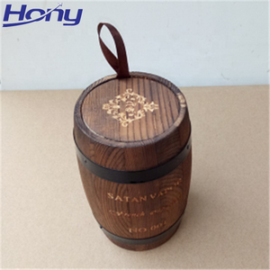 Custom Color and Logo Empty Mini Keg Wooden Packaging Barrel Holder for Coffee Bean,Cigarette