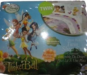 Disney Tinkerbell Fairies Flitterific Sheet Set - Twin