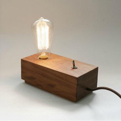 retro holz lampen edison birne beleuchtung wohnzimmer. Black Bedroom Furniture Sets. Home Design Ideas