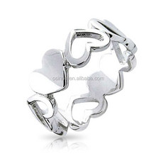 Fine Gift Silver Ring Hollow Out Heart Ring For Lovers OSSR038