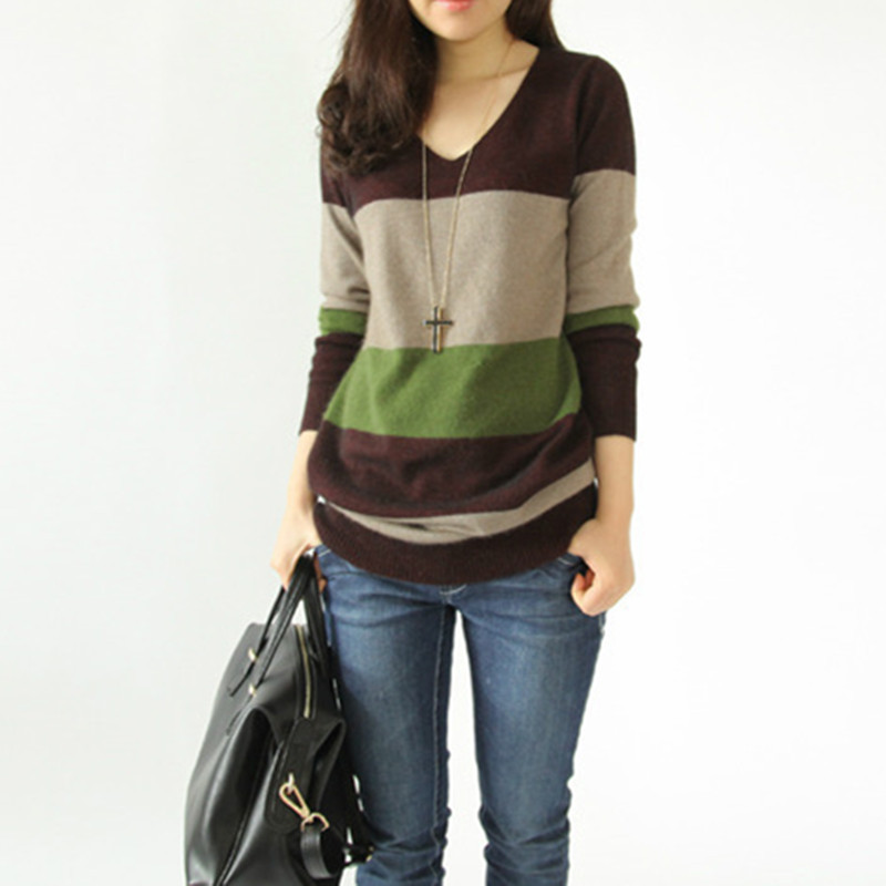 Autumn Winter Sweater Fashion Wool Cashmere Long Women ...