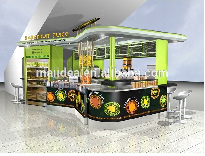 Fruit Juice Kiosk And Fruit Vegetable Display Stands Stall
