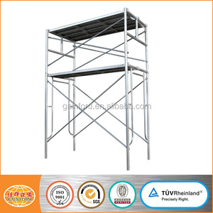 Metal scaffolding frame for construction tubular frame scaffolding