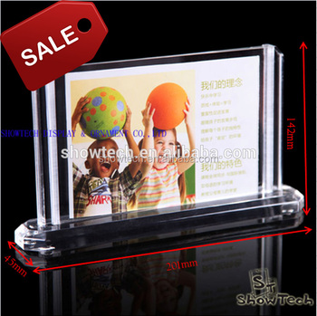 Transparent Acrylic 2 Sided Photo Picture Frames Glass Frames With
