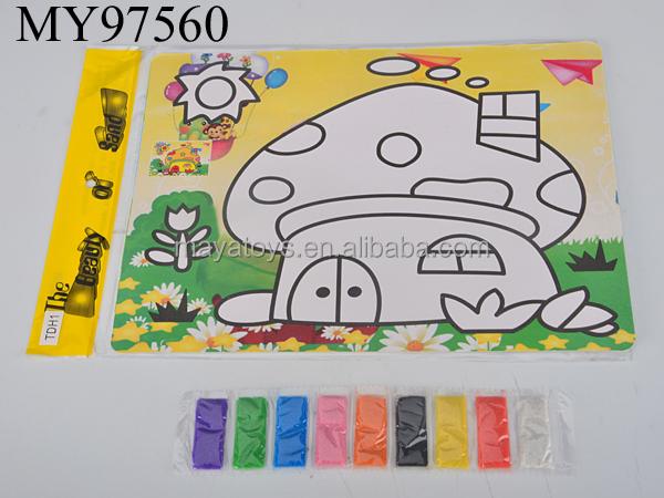 enfants sable peinture art sable color peinture pour enfants ducatifs bricolage jouets - Dessin Sable Color