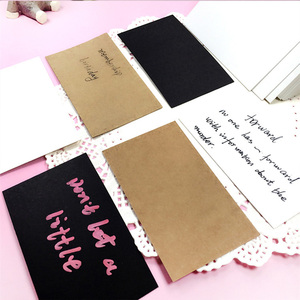 Custoom Kraft Paper Graffiti Card Pure Color Greeting Word Thank You Notes Gift Card