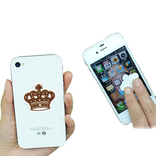novelty mini sticker mobile screen cleaner with silicon gel