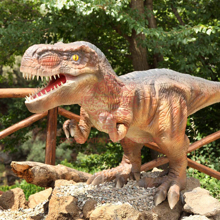 Wholesale Festival Outdoor Decoration interactive dinosaur dinosaur fighting games how to make animatronic dinosaur life size si