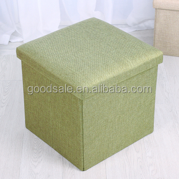 Storage Cube Basket Bins Organizer Containers Foldable Pouffe Large  Capacity Ottoman Stool