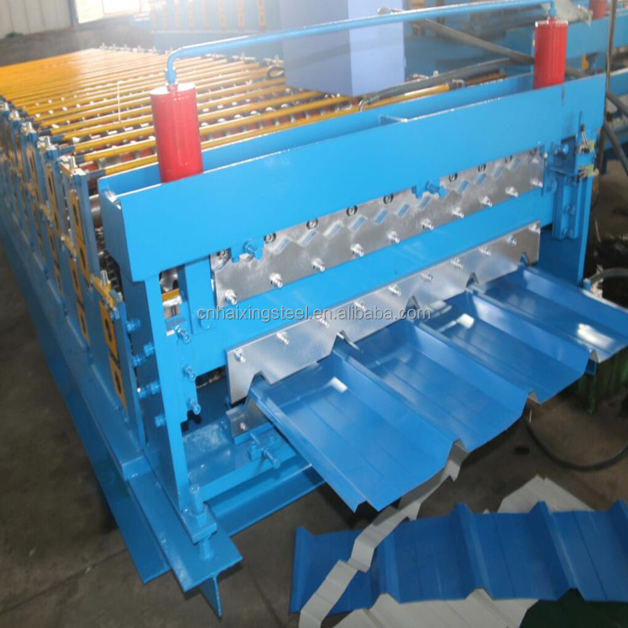 trapezoidal roof and roof tile double layer forming machine
