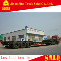 Truck Trailer Use and Semi-Trailer Type 3 axle 60 ton low bed trailers for sale