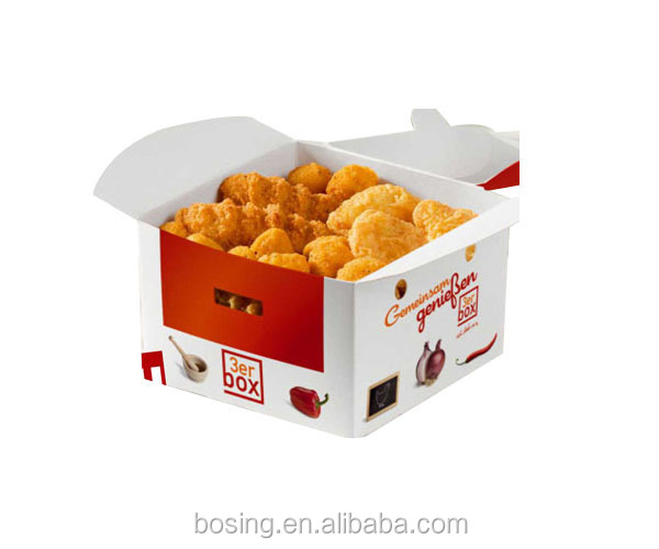 Custom Printed Disposable Fried Chicken Box