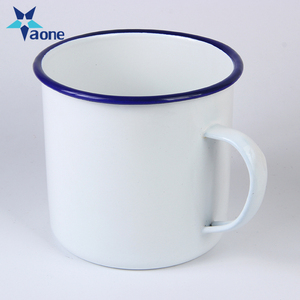 Customized Coffee Camping Tea Cup White Color Cheap Sublimation Blank Enamel Mug