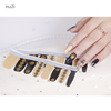 New 2d/3d full covered 16pcs/sheet Nail Polish Stickers Self-adhesive Nail Art Wraps foil