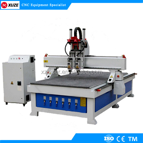 cheap cnc wood carving machine 5.5kw Vacuum Table DSP Offline Control