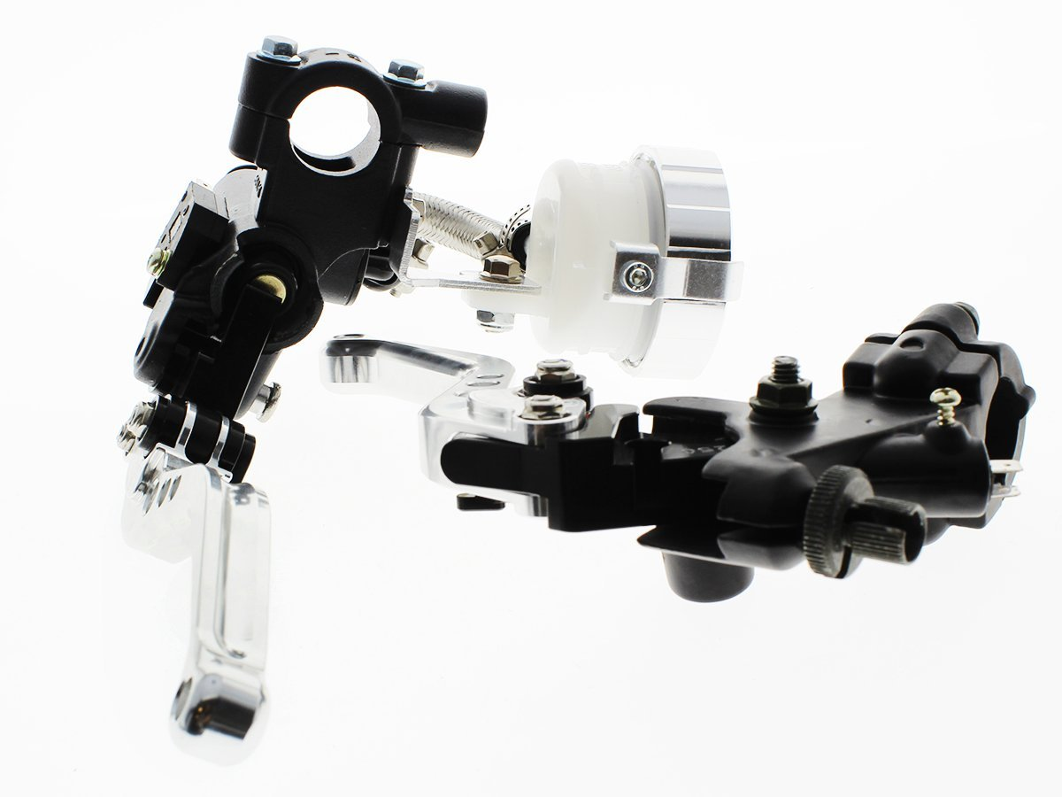"FXCNC Racing Motorcycle 7/8"" Brake Levers Master Cylinder Reservoir with Cable Perch Clutch Levers For Kawasaki NINJA 250R"