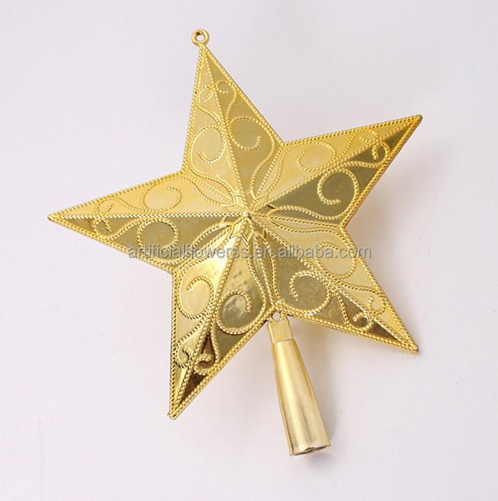 New design christmas hanging decoration christmas tree top star