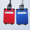 Custom cheap travel accessories luggage tag plastic with printing logo