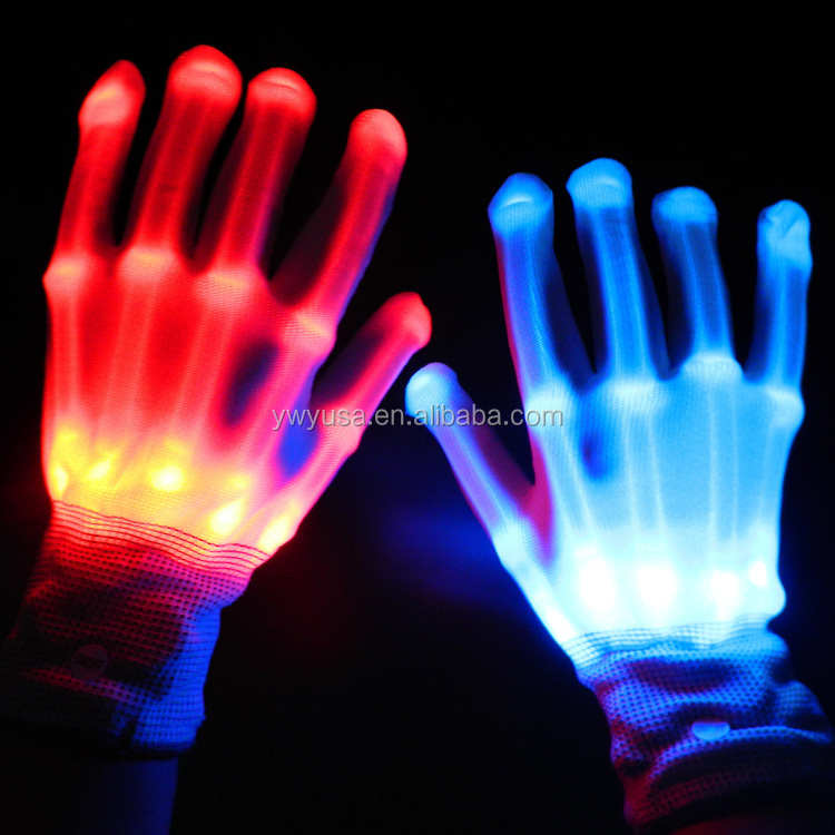 China Manufacturers Dance Sequin Party Led Work Gloves Hand Gloves ...