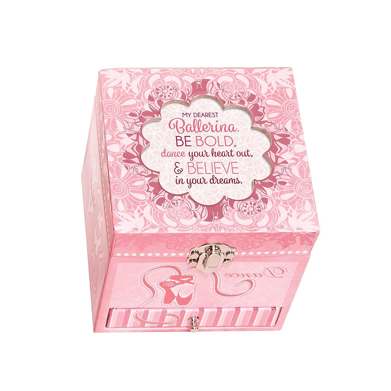Ballerina Dance Your Heart Out Pink Ballerina Musical Box Plays Tune Swan Lake
