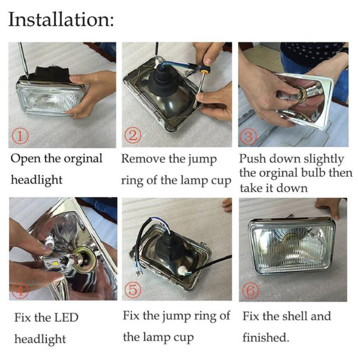 3 face auto bulb 12v motorcycle led headlight h4