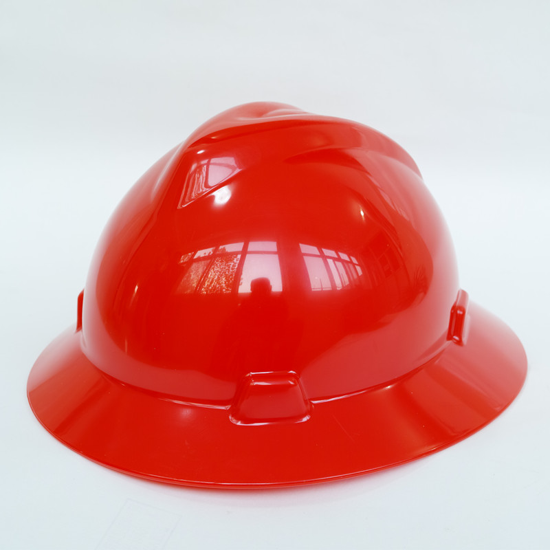 ansi building workers hard hat with logo full brim