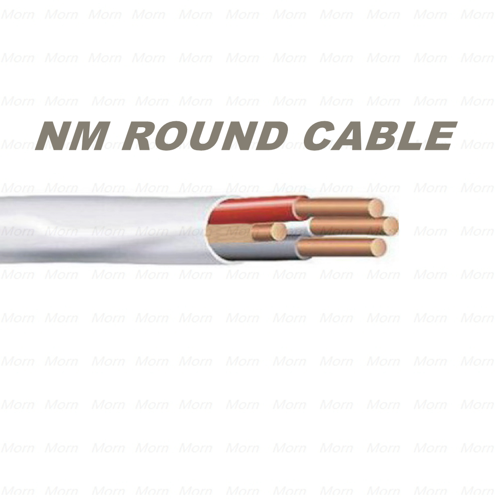 Type NM Round Cable with PVC Insulated Nylon Jacket Cable