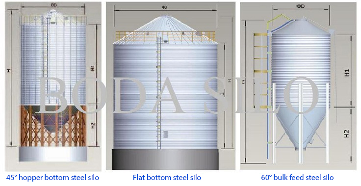 500tons 1000tons Used Wheat Corn Feed Grain Storage Steel Silo With Best Price For Sales