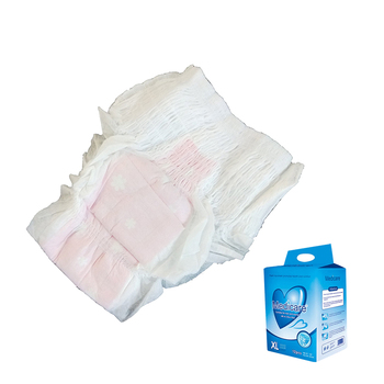 Guangzhou Factory Oem Green Package Small/Medium/Large/Ultra Large 4 Sizes Adult Wearing Diapers in A Thong Incontinence Nappies
