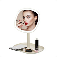 Cosmetic Mirror Plastic Frame With Touch Screen 23 LED Lights