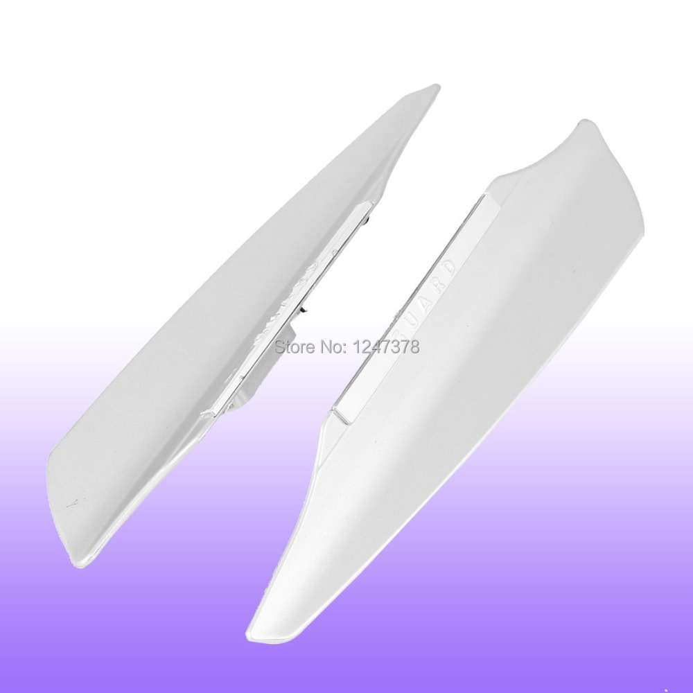 "Vehicle Car Silver Tone Plastic Bladed Windscreen Wiper Mate 2 Pcs/lot 19.8 x 4.2 x 1cm / 7.8"" x 1.7"" x 0.39"" (L * W* T)"