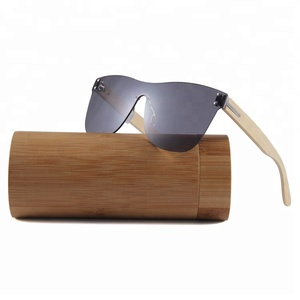 2018 wholesale wooden bamboo sunglasses china new model cycling sports glasses